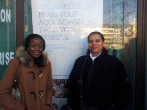 Coumba (à gauche ) et Valérie, deux jeunes entrepreneuses