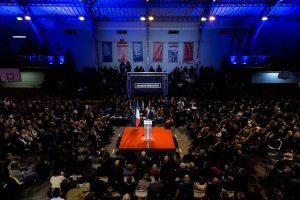 Meeting de Montebourg pour la primaire de la gauche. Arnaud Montebourg.