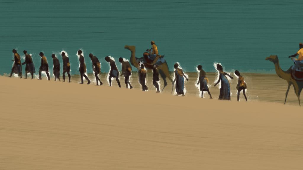 Les routes de l'esclavage Caravanes désert Fanny Glissant